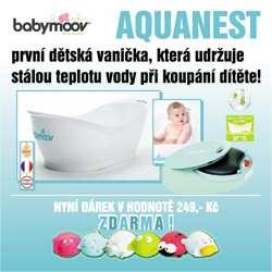Babymoov vanička Aquanest White (Vanička s teplotním difuzorem udržujícím teplou vodu!)