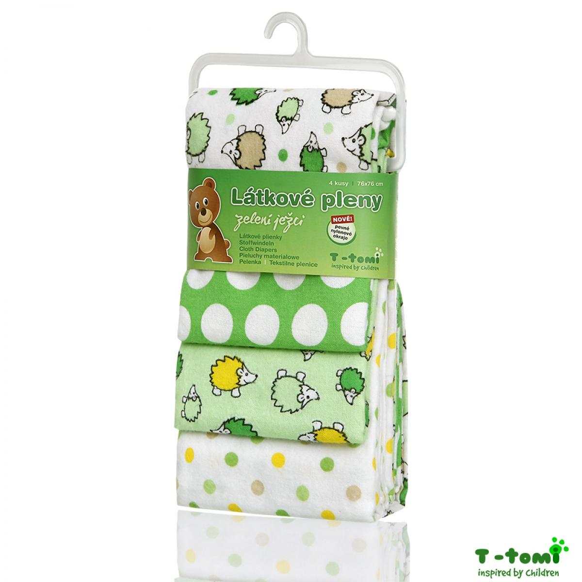 T-Tomi látkové pleny Zelení ježci