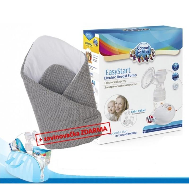 Canpol Babies elektrická odsávačka EasyStart (Nyní navíc ZAVINOVAČKA ZDARMA !)