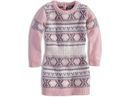 b5e97044aeca DIRKJE dívčí pletené šaty světle růžové vel. 98 cm