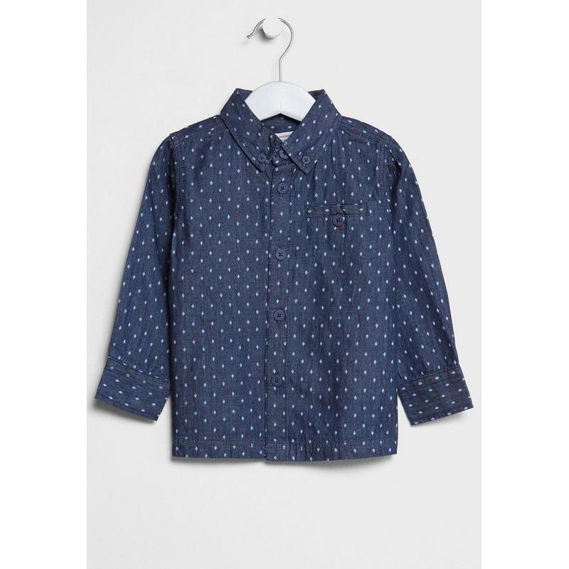 15388ad9a2c Minoti RACE 7 košile chlapecká modrá vel. 86-92 cm