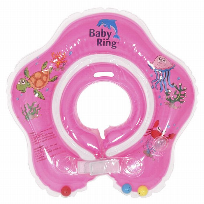Baby Ring růžový (Baby Ring kruh na plavání 0-36m (6-36kg) růžový)