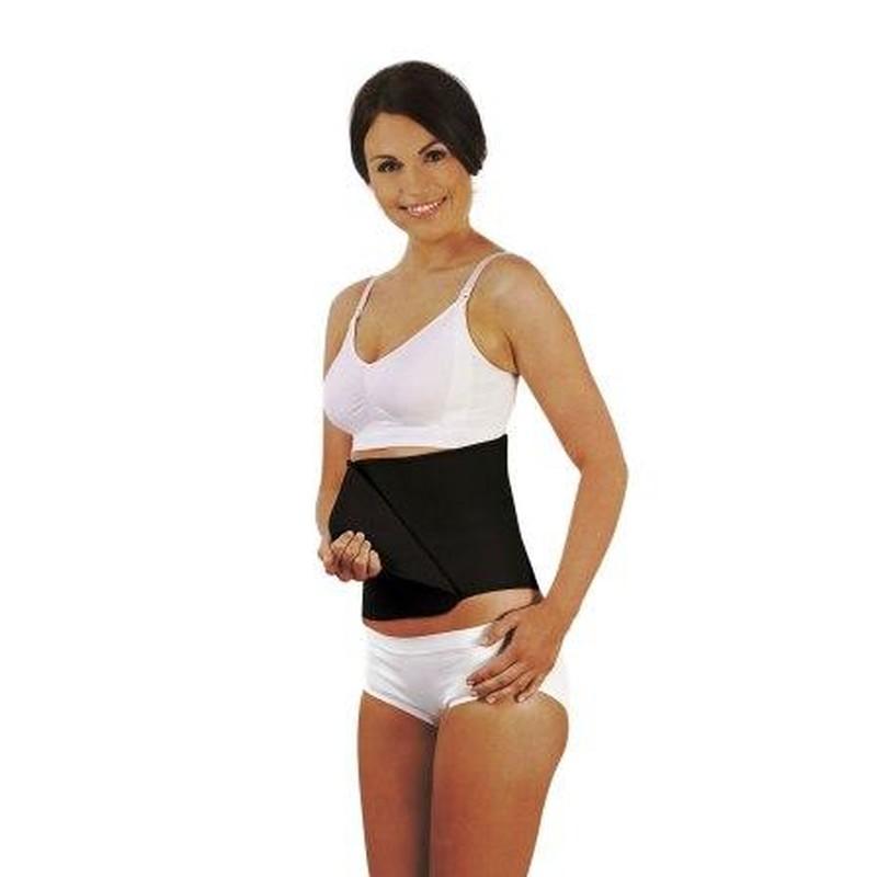 Carriwell stahovací pás po porodu Belly Binder S/M černý (Díky hladké přírodní bavlně lze nosit pod i nad oblečením!)