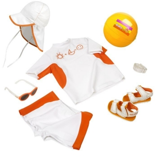 Babymoov letní set Baby Orange